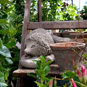 Gartendekoration, Gartenaccessoires, Floraparadies, Weißer, Gärtnerei